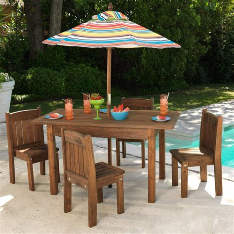 kidkraft 00046 outdoor table and stacking chairs