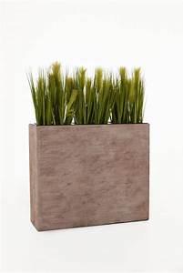 Pflanzen Als Raumteiler : pflanzk bel raumteiler aus fiberglas elemento 88 cm beige gestreift ~ Sanjose-hotels-ca.com Haus und Dekorationen
