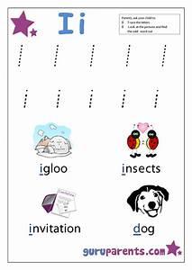 Number Chart 1 20 With Words Letter I Worksheets Guruparents