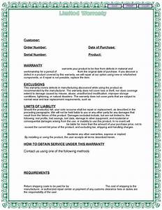 warranty template free printable documents With used car warranty template