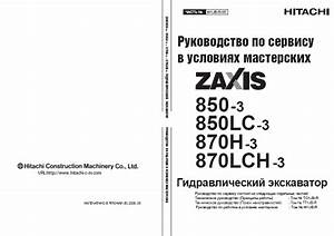 Hitachi Zaxis 850 850 870lch