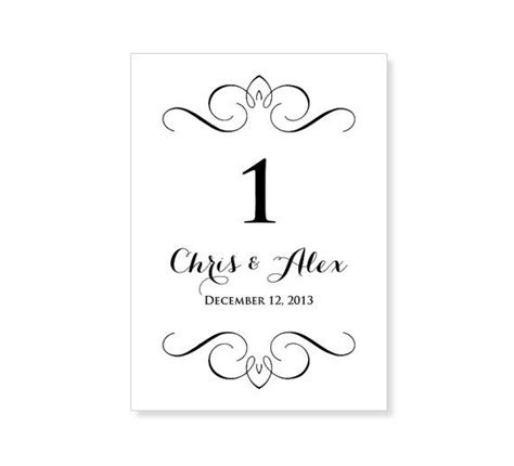 instant  wedding table number template  lucy