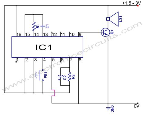 Electronic Bell Circuit Diagram by Sensor Doorbell Circuit Be Sure To Point The Laser Beam