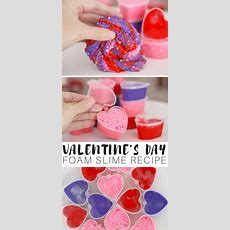How To Make Valentines Day Floam Slime Recipe With Kids
