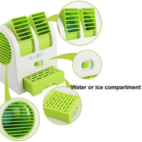fan with ice compartment mini air cooler fan air conditioner with water and ice