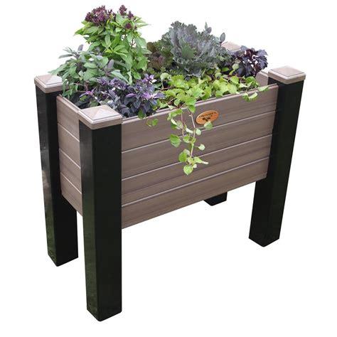 gronomics raised garden bed gronomics 18 in x 36 in x 32 in maintenance free black