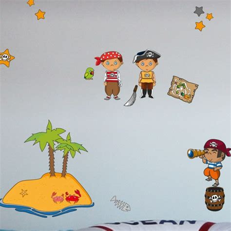 Wandtattoo Kinderzimmer Piraten by Wandsticker Set A4 Piraten