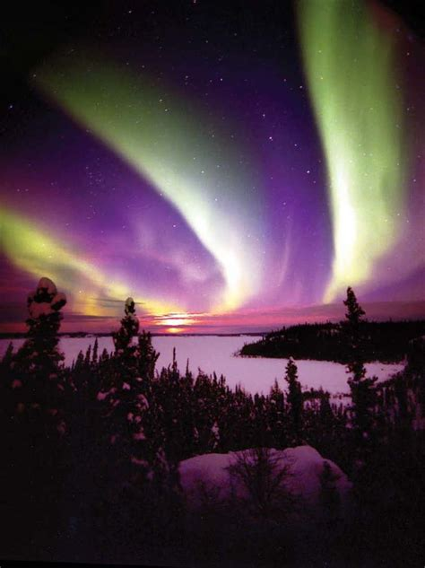 canadian northern lights awesome sceneries pinterest