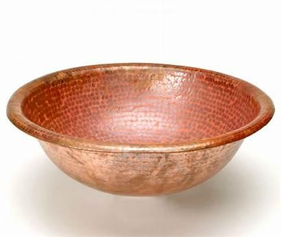 Copper Hammered Sink Round Dvontz