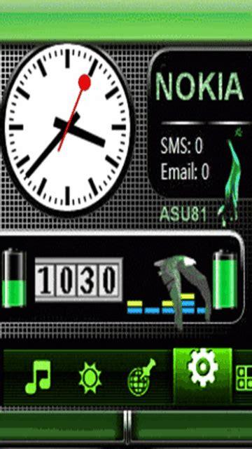 Digital Clock Clock Live Wallpaper Mobile9 by Neon Nokia Battery Clock Mobile Screensavers