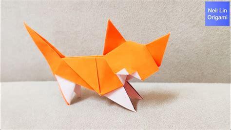 cute cat origami cat tutorial youtube