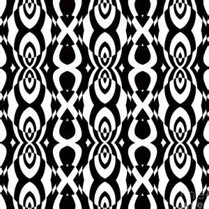 op art geometric abstract black white pattern print