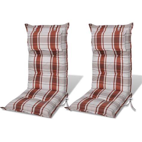 coussins pour chaises de jardin coussin pour chaise de jardin brun achat vente coussin