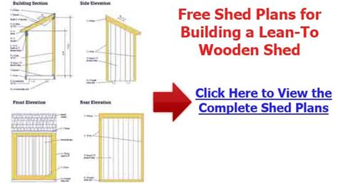 8x10 lean to shed plans how to build diy by