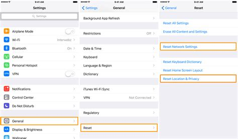 reset network settings iphone gps not working on your iphone try this