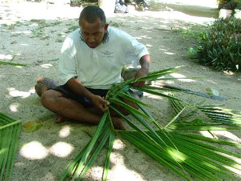 basket weaving  palm leaves picture  barefoot