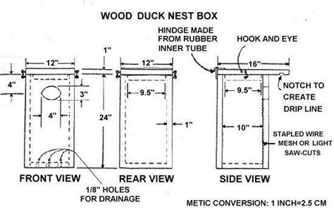 wood duck nest box dimensions   nest box plans