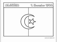 Printable Flag of algeria coloring page Printable