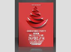 Free Creative Christmas Party Club Poster Flyer Template