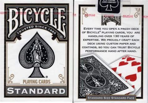 These playing cards have the highest quality of paper and are made from premium materials to ensure a quality playing experience. Black Standard Bicycle Playing Cards - PlayingCardDecks.com