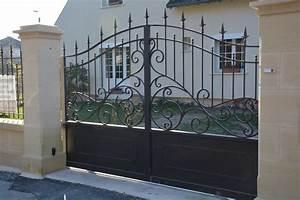 peindre un portail en fer le fer forg sur lyon pergola With peindre une grille en fer