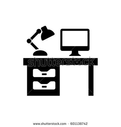Office Desk Icon by Cubicle Icon Stock Images Royalty Free Images Vectors