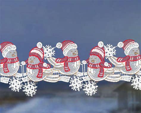 Fensterdeko Weihnachten Girlande by Scheibengardinen Weihnachten Fensterdeko Girlande