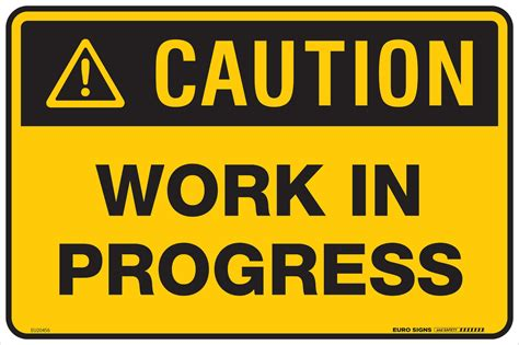 caution work  progress  poly euro signs  safety