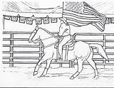 Coloring Horse Rodeo Pages Riding Horses Flag Cowgirl Printable Cowgirls Horseback Printables American Sheets Cowboy Bull Dancing Drawings Pony Events sketch template