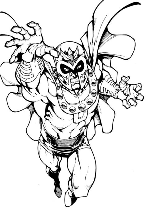 coloring pages magneto printable  kids adults