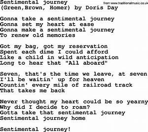 Sentimental Journey Song Related Keywords & Suggestions ...