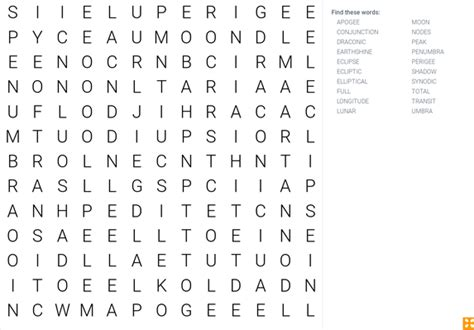 lunar eclipse wordsearch science interactive pbs