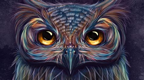 Background Digital Owl Wallpaper by Owl Colorful 5k Hd Artist 4k Wallpapers Images