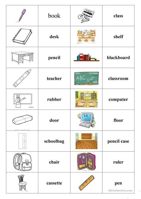 new school things worksheets goodsnyc