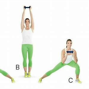 Side Lunge with Dumbbell overhead - Exercise How-to ...