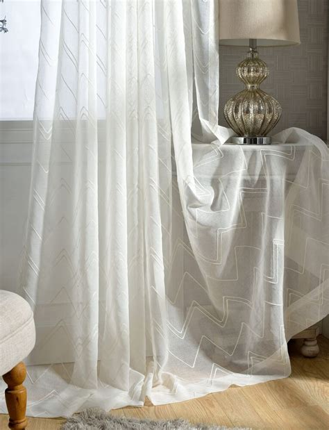 custom french country modern stripe embroidered white