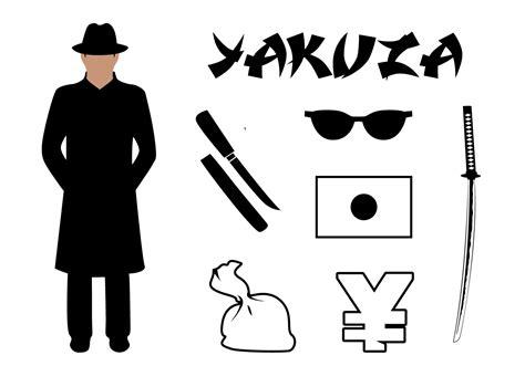 vector set yakuza symbols  japan