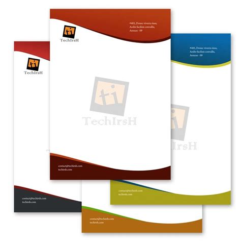 vector psd company letter head design template