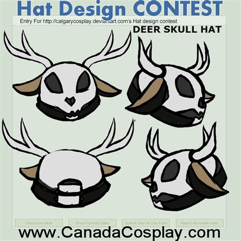Deer Skull Hat Contest Entry Leakysneakyoprichnik
