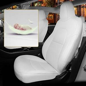 Car Seat Covers Set Special for Tesla Model 3 White 5-Seat PU Leather 2016-2019 | eBay