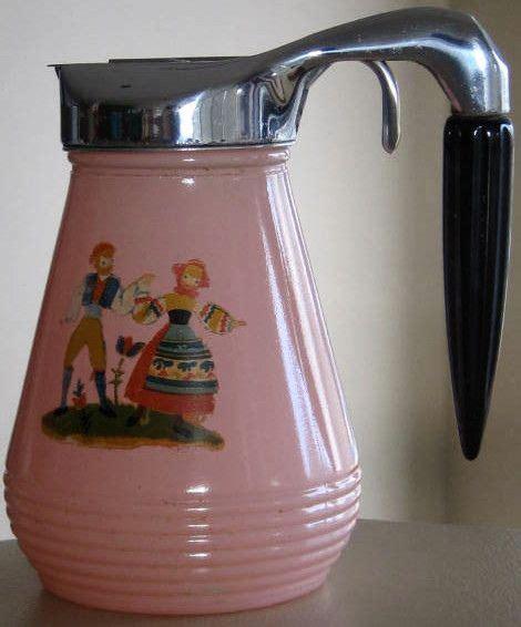 Vintage Glass Syrup Pitcher