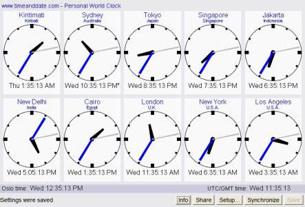 personal world clock applet version