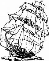 Ship Pirate Coloring Pages Boat Drawing Clipart Printable Clip Line Wood Water Burning Colouring Sailboat Viking Clipartkid Sheets sketch template