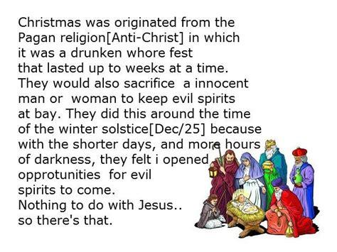 Pagan Origin Of Christmas
