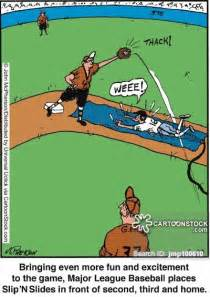 Baseball Slip N Slide Cartoon Pictures