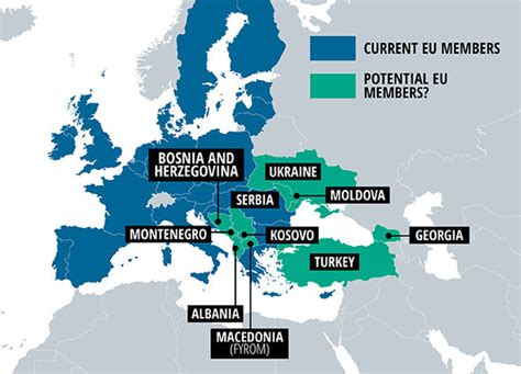 MAPPED: EU plots MASSIVE expansion to become 37 country ...