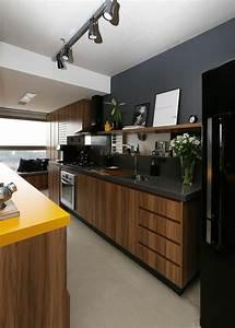 1001 idees pour cuisine noire des conseils comment l With cuisine marron et blanc