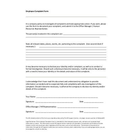 hr complaint letter   word  documents