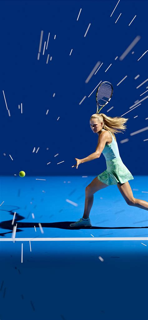 ay tennis girl blue sports illustration art wallpaper