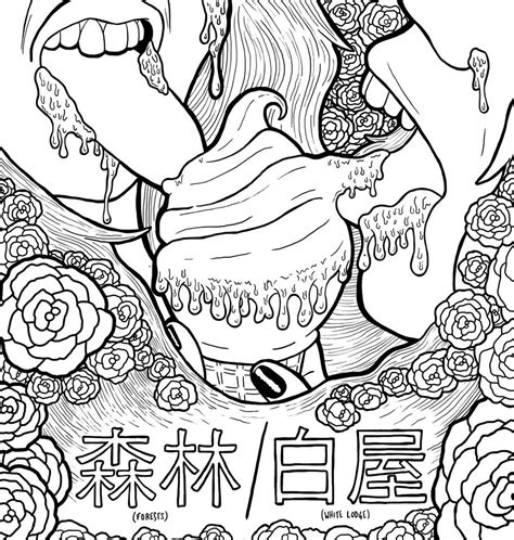 That Fucking Cat Template by Simple Hipster Coloring Tumblr Coloring Pages